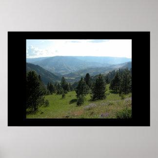 Idaho Mountain Landscape Poster