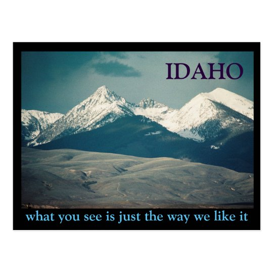 Idaho Mountains Postcard