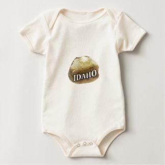 Idaho potato label baby bodysuit