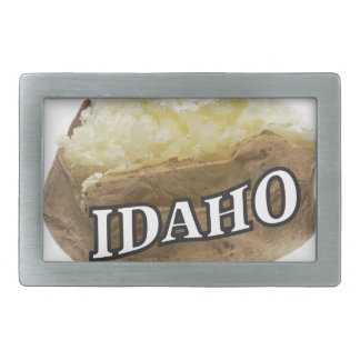 Idaho potato label belt buckle