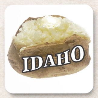 Idaho potato label coaster