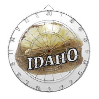 Idaho potato label dartboard