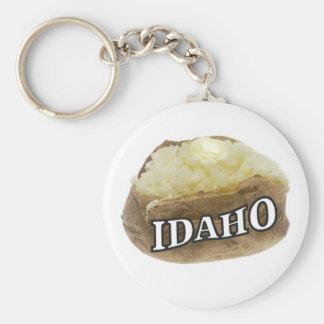 Idaho potato label keychain