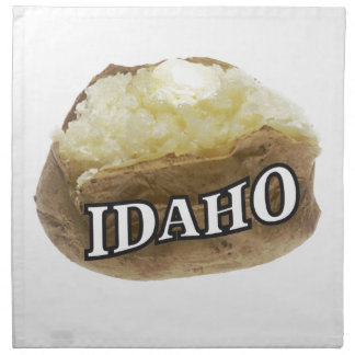 Idaho potato label napkin