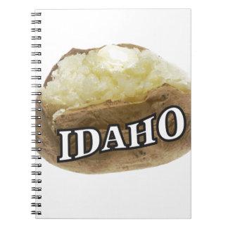 Idaho potato label spiral notebook