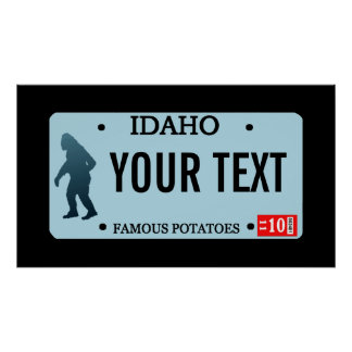 Idaho Sasquatch License Plate Print