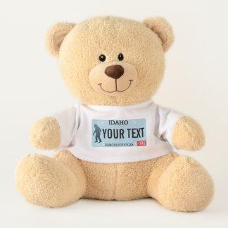 Idaho Sasquatch License Plate Teddy Bear