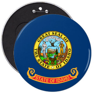 Idaho State Flag 6 Inch Round Button
