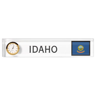 Idaho State Flag Desk Clock by Janz Nameplate