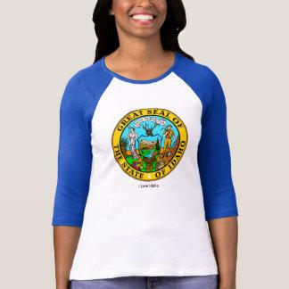 Idaho State flag for Women's-T-Shirt-White-Blue T-shirts