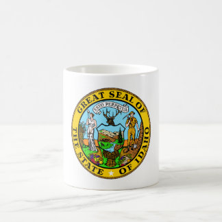 Idaho state seal america republic symbol flag coffee mug