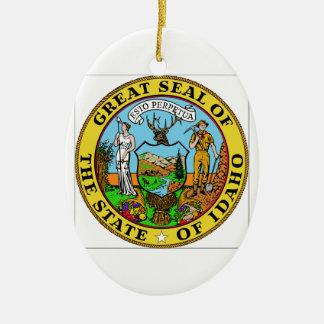 Idaho State Seal Ceramic Ornament