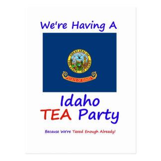 Idaho TEA Party - We're Taxed Enough Already! Postcard