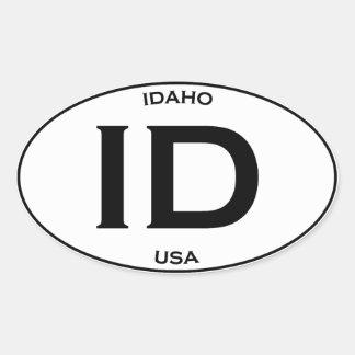 Idaho USA Oval Sticker