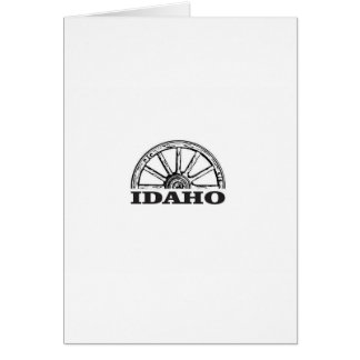 Idaho wagon wheel card