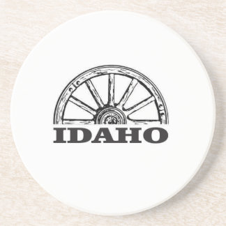 Idaho wagon wheel coaster