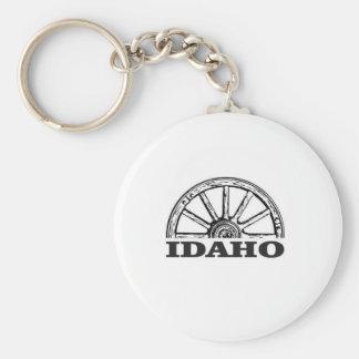 Idaho wagon wheel keychain