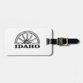Idaho wagon wheel luggage tag