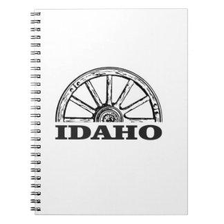 Idaho wagon wheel notebook