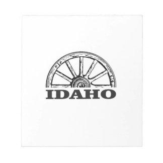 Idaho wagon wheel notepad