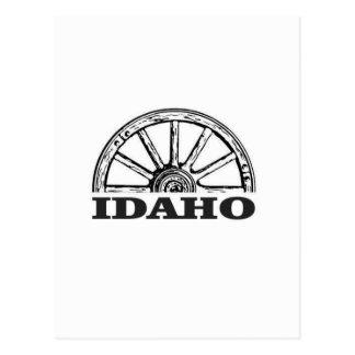 Idaho wagon wheel postcard