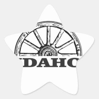 Idaho wagon wheel star sticker