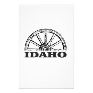 Idaho wagon wheel stationery