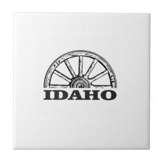 Idaho wagon wheel tile
