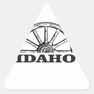Idaho wagon wheel triangle sticker