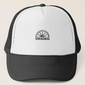 Idaho wagon wheel trucker hat