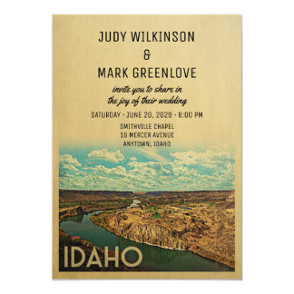 Idaho Wedding Invitation Vintage Mid-Century
