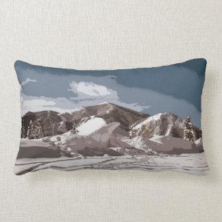 Idaho Winter Scenes Cutout Design Lumbar Pillow