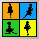 iDance Irish Dancer Silhouettes Poster