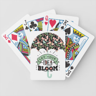 Idea Bloom Umbrella Bicycle Playing Cards
