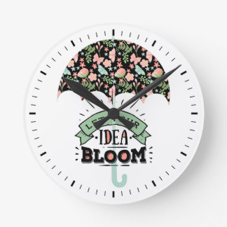 Idea Bloom Umbrella Round Clock