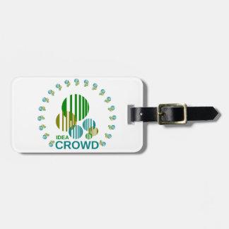idea crowd bag tag