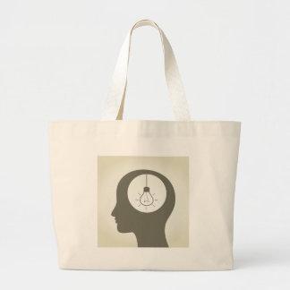 Idea in a head large tote bag