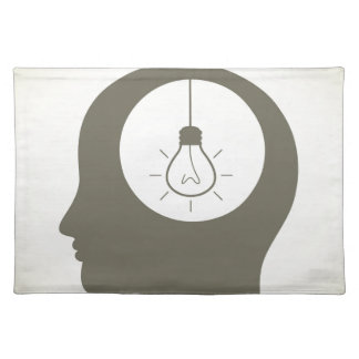 Idea in a head placemat