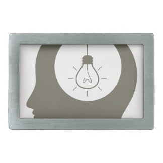 Idea in a head rectangular belt buckles