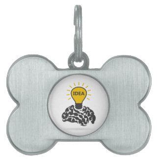 Idea of a brain pet ID tag