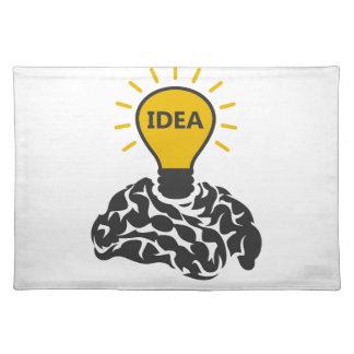 Idea of a brain placemat