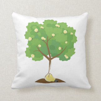 idea tree throw pillow