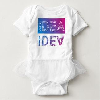 IDEA - typographic Baby Bodysuit
