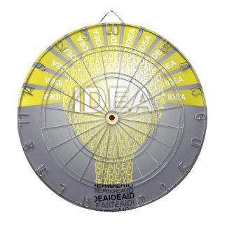 IDEA typographic bulb Dartboard