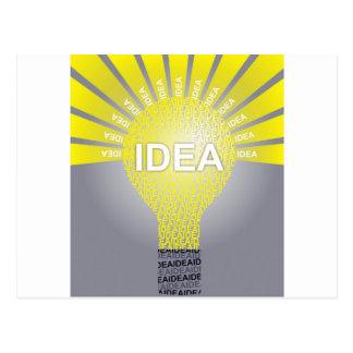 IDEA typographic bulb Postcard