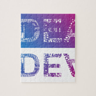 IDEA - typographic Jigsaw Puzzle