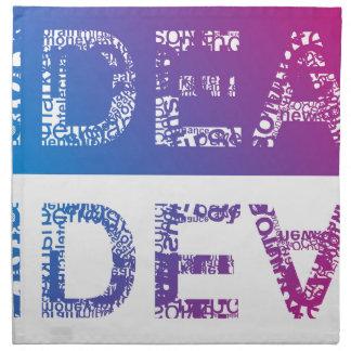 IDEA - typographic Napkin