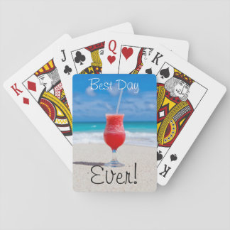 Ideal Beach Vacation Poker Deck