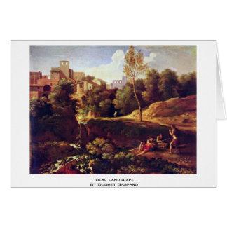 Ideal Landscape By Dughet Gaspard Card