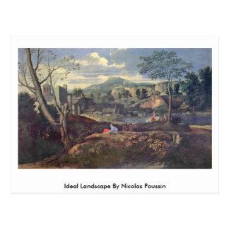 Ideal Landscape By Nicolas Poussin Postcard